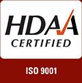 HDAA Certified ISO 9001